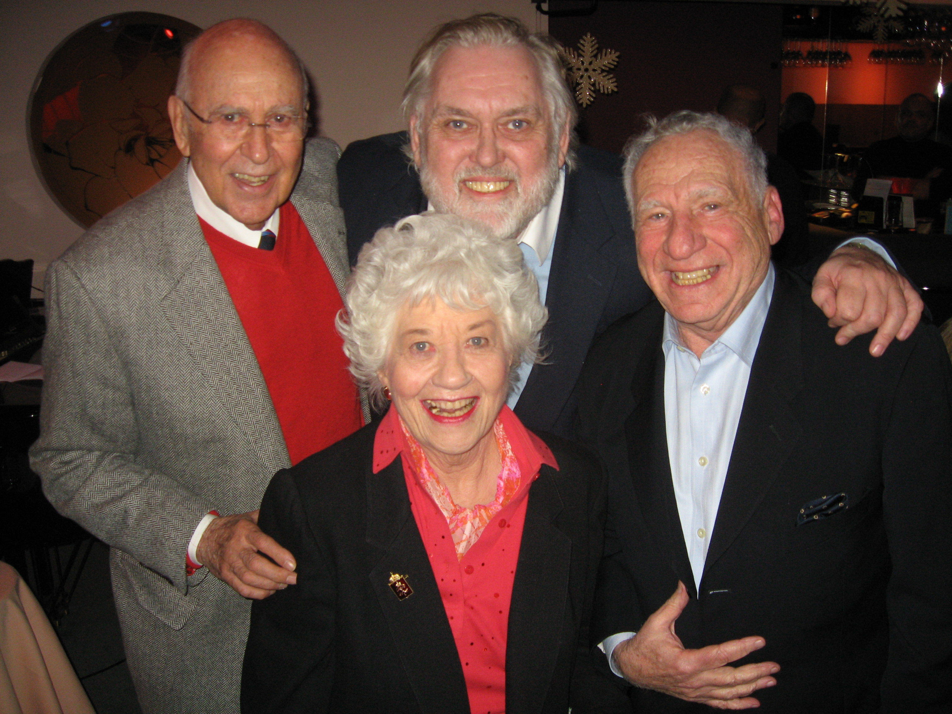 Jim Brochu, Carl Reiner, Mel Brooks, Charlotte Rae